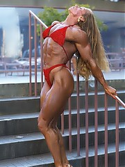 Renee O'Neill is muscular and defined middleweight competitors with fabulous muscle size and shape combined with unreal definition