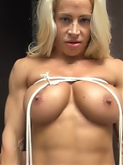 Jill Jaxen - she likes ropes so much, she ties herself Up