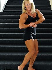 Teresa Paschal very attractive blonde hair top off a beautiful physique model