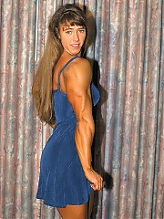 Denise Hoshor the muscle shots included, with lots of beautiful leg poses in her heels and short skirts