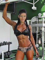 Beautiful muscle girls look awesome in clothes and lingerie! They are better without anything!