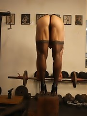 Denise - She's In Stockings And Heels In The Gym, And Can Bench More Than You