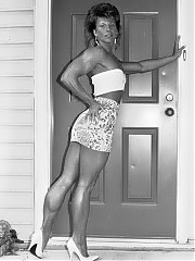 Jeannie Riggles having the shape and 'look' of a figure woman, but with terrific arms and some of the best calves