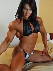 Sexy muscle females posing naked
