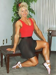 Caron Hospedales - gorgeous woman with large, very well developed legs