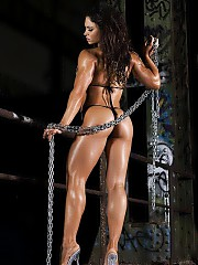Real female bodybuilder,fitness, sports, fashion.